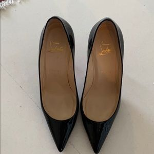 Louboutin high heels black patent leather
